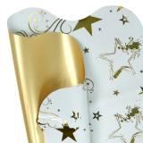 Rondella Manschette Weihnachtsmotiv Weiß Gold 60cm 50St