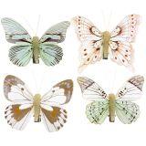 Schmetterling am Clip 8cm 8St