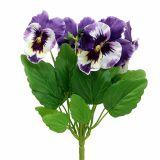 Dekoration 40 künstliche Stiefmütterchen Blüten künstlich Seidenblumen Streudeko