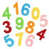 Streudeko Zahlen aus Filz bunt sortiert 3cm 150St