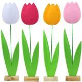 Filzblume Tulpe Verschiedene Farben H88cm