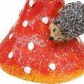 Fliegenpilz mit Igeln Deko Pilz Tischdeko Herbst H22cm 2St