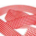 Geschenkband Karo rot-weiß 25mm 20m