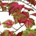 Girlande Weinlaub Pink, Grün 190cm