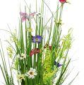 Grasbund mit Blüten 73cm