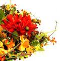 Herbstkranz Ø30cm mit Chrysamthemen rot-orange
