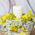 Kerzen Rustic, Wachskerzen Weiß, Stumpenkerzen Korbmuster 110/65 2St
