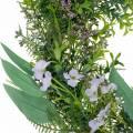Dekokranz Eukalyptus, Farn, Blüten Künstlicher Kranz Tischkranz