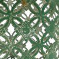 Metallkorb oval mit Henkel 25cm x 16,5cm H21cm Grün