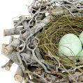 Vogelnest mit Eiern 19cm