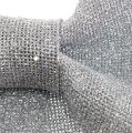 Schleife Glitter Silber 32cm x 42cm