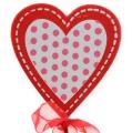 Herz mit Schleife 6,5cm Rot/Weiß 18St