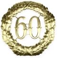 Jubiläumszahl 60 in Gold Ø40cm