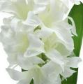 Seidenblumen Hyazinthe Weiß 33cm