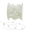 Perlenband Weiß 6mm 15m