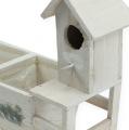 Holzkasten mit Vogelhaus 29,5cm x 12cm H24cm