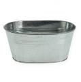 Zinkschale oval Silber 21,5cm x 14cm x 10cm 6St
